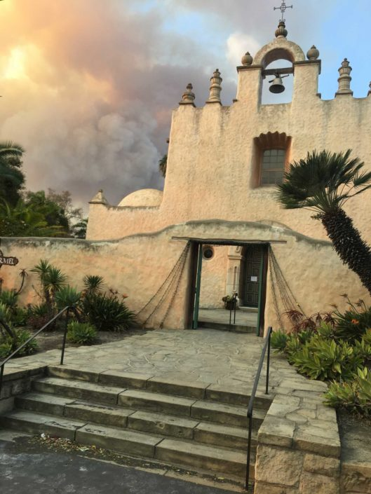 Chapel in Thomas Fire smoke