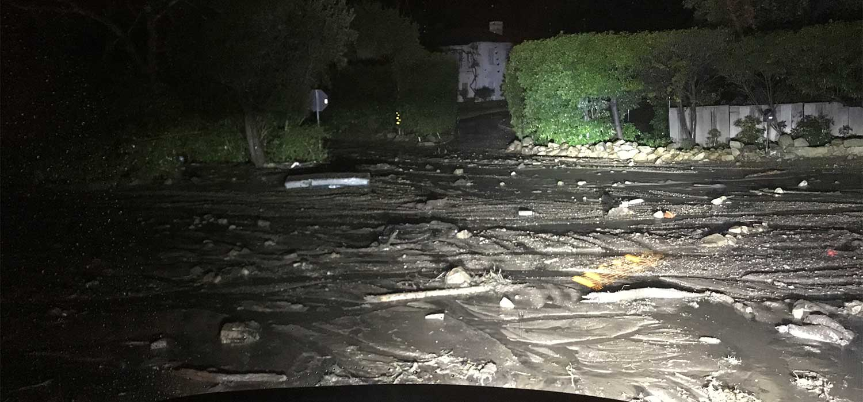 Montecito mudslide street view